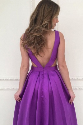 Gogerous V-Neck Sequins Prom Dresses Ruffle Backless Sleeveless Sexy Evening Dresses_2