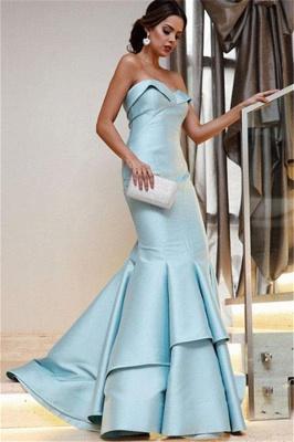 Sequin Ruffle Sweetheart Prom Dresses Cheap Mermaid Sleeveless Sexy Evening Dresses_2