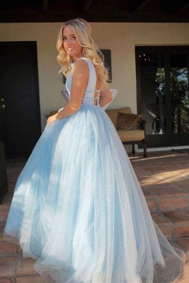 Gorgeous Sequins Straps Tulle Prom Dresses | Ball Gown Sleeveless Sexy Evening Dresses with Beads_6