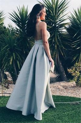 Chic Ruffle Backless Prom Dresses Spaghetti-Strap  Sleeveless Sexy Evening Dresses_2