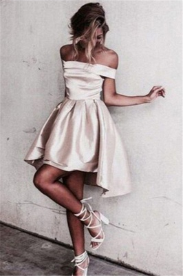 Newest A-line Mini Off-the-shoulder Homecoming Dress_2