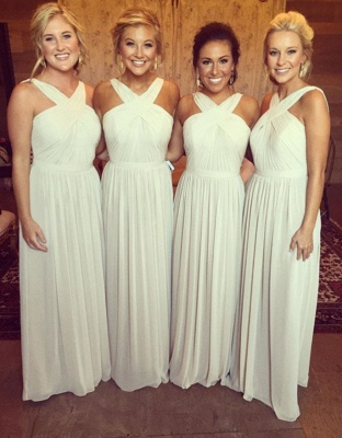 Elegant Sleeveless A-line Chiffon Cross Bridesmaid Dress_3