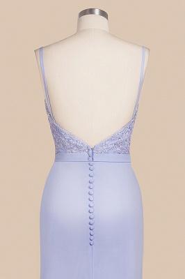 Spaghetti Straps Open Back Lace Mermaid Prom Dresses | Elegant Evening Dresses long_8