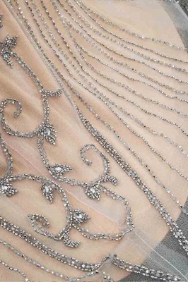 Luxury Beaded Jewel Cap Sleeves Fit and Flare Prom Dresses_41