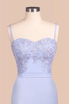 Spaghetti Straps Open Back Lace Mermaid Prom Dresses | Elegant Evening Dresses long_6