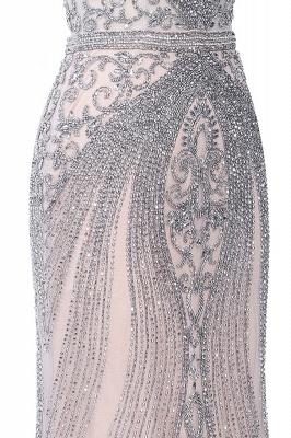 Luxury Beaded Jewel Cap Sleeves Fit and Flare Prom Dresses_32