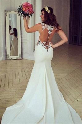 Sexy Cutaway Sides Bridal Gowns | Sheer Mermaid Wedding Dresses_2
