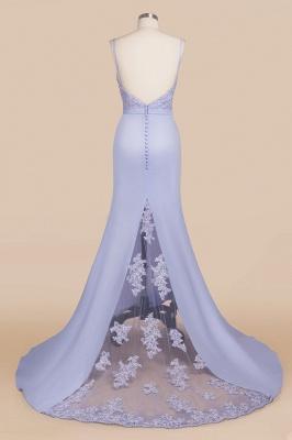Spaghetti Straps Open Back Lace Mermaid Prom Dresses | Elegant Evening Dresses long_5