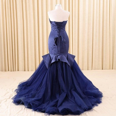 Alluring Red Mermaid Sweetheart Prom Dress Lace-Up Evening Dress_5
