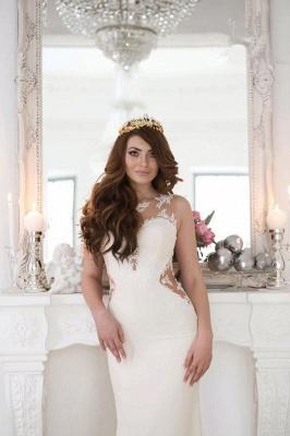 Sexy Cutaway Sides Bridal Gowns | Sheer Mermaid Wedding Dresses_3