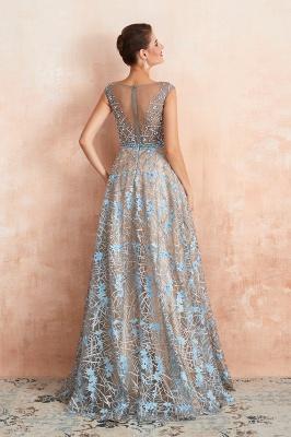 Elegant Jewel Sleeveless Appliques A-line Prom Dresses_4