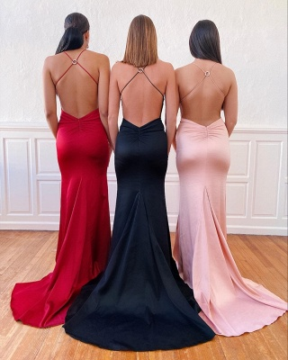 Criss-Cross Straps Sleek Skin Tight Prom Dresses in Any Color for Teens_2
