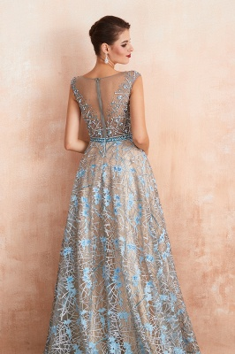 Elegant Jewel Sleeveless Appliques A-line Prom Dresses_9