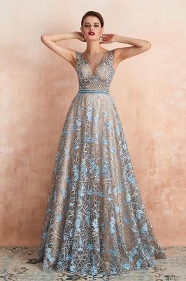 Elegant Jewel Sleeveless Appliques A-line Prom Dresses_10