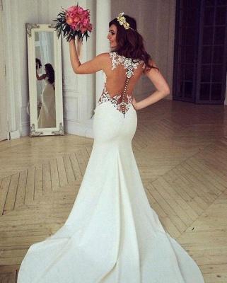 Sexy Cutaway Sides Bridal Gowns | Sheer Mermaid Wedding Dresses_6