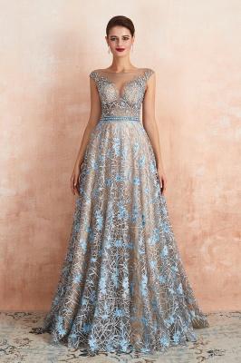 Elegant Jewel Sleeveless Appliques A-line Prom Dresses_2