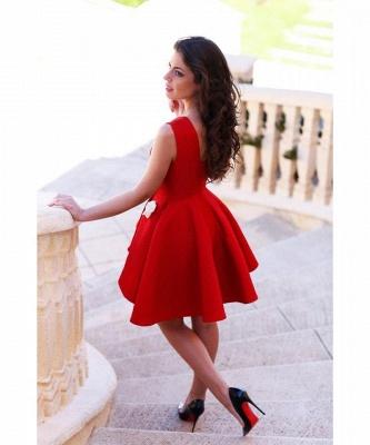 Sleeveless Red Flowers Sexy Short Homecoming Dress_3