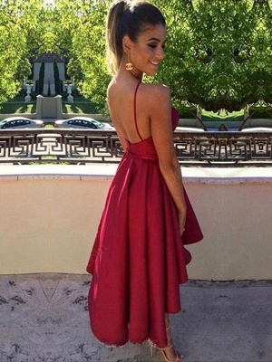 Sleeveless Keyhole Short Short Backless Modest homecoming Dress_2