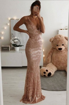Iridescent Fitted Sequin Prom Dresses | Sparkly Long Evening Dresses
