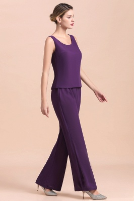 Fashion Grape Chiffon Mother of Bride Pants Suits t with Jacket_10