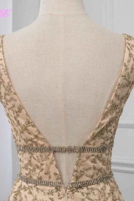 Sleeveless V-neck A-line Floor Length Stunning Prom Dresses_6