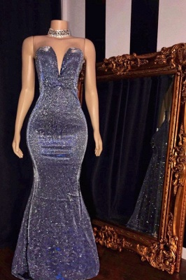 Glittering Sweetheart Strapless Metallic Fitted Prom Dresses_1