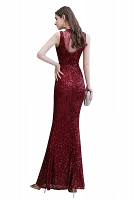 Women's Fashion High Neck Sleeveless Long Sparkly Sequin Form-fitting Prom Dresses_11
