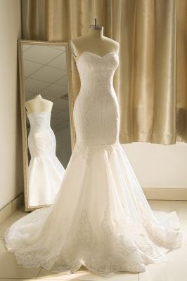Strapless Sweetheart White Mermaid Prom Dresses_4