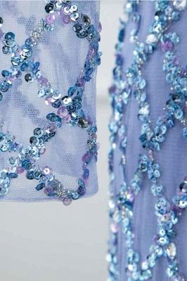 Jewel Keyhole Long Sleeves A-line Light Blue Prom Dresses with Beads_7