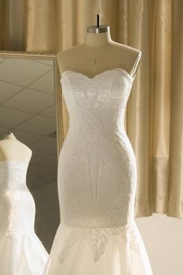 Strapless Sweetheart White Mermaid Prom Dresses_5