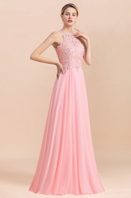 Jewel Sleeveless Lace Chiffon Cheap Long Party Dresses_15