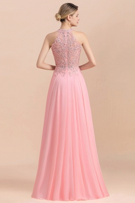 Jewel Sleeveless Lace Chiffon Cheap Long Party Dresses_18