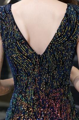 Women's Stylish V-neck Sleeveless Floor Length Thigh Slit Form-fitting Prom Dresses_12