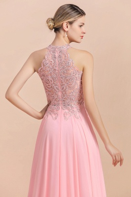 Jewel Sleeveless Lace Chiffon Cheap Long Party Dresses_19