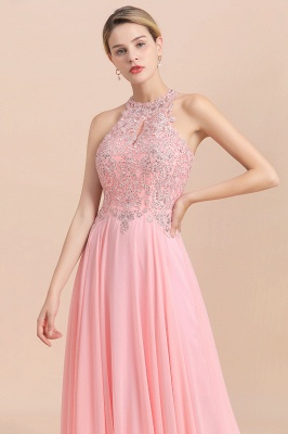 Jewel Sleeveless Lace Chiffon Cheap Long Party Dresses_20