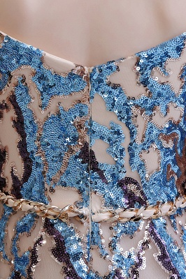 Off the Shoulder Sweetheart Beaded Belted Sparkly A-line Prom Dresses_13