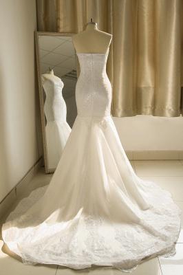 Strapless Sweetheart White Mermaid Prom Dresses_3