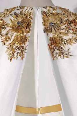 Sleeveless Jewel Belted Gorgeous Prom Dresses with Watteau Train_6