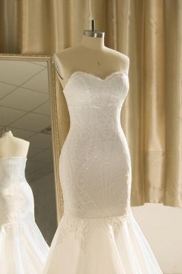 Strapless Sweetheart White Mermaid Prom Dresses_6