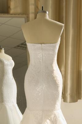 Strapless Sweetheart White Mermaid Prom Dresses_7
