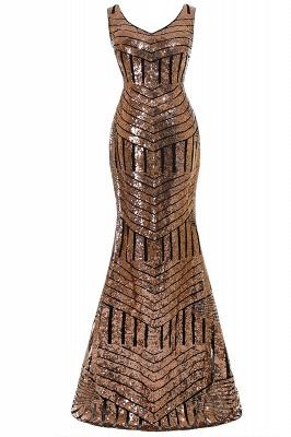 Newest Sleeveless Mermaid Jewel Long Sequin Prom Dress_2