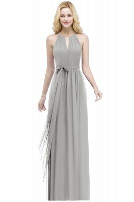 ROSALIND   A-line Halter Floor Length Burgundy Bridesmaid Dresses with Bow Sash_7
