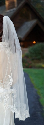 Elegant Tulle Lace Wedding Veils With Comb