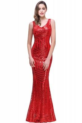 Newest Sleeveless Mermaid Jewel Long Sequin Prom Dress_1