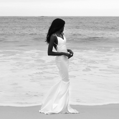 Casual Spaghetti Strap Sweetheart Backless Fitted Mermaid Wedding Dress | Beach Wedding Gown_5