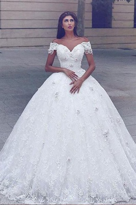 Sweeetheart Lace Ball Gown Wedding Dresses | Off The Shoulder Bridal Dress