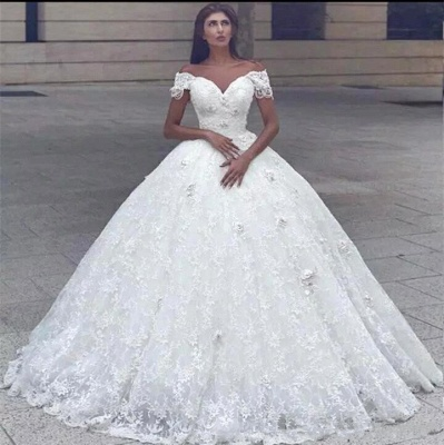Sweeetheart Lace Ball Gown Wedding Dresses | Off The Shoulder Bridal Dress_2