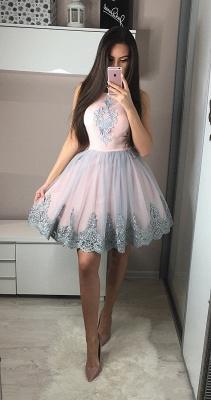 Exquisite A-Line Homecoming Dresses | Scoop Sleeveless Applique Short Cocktail Dresses_3