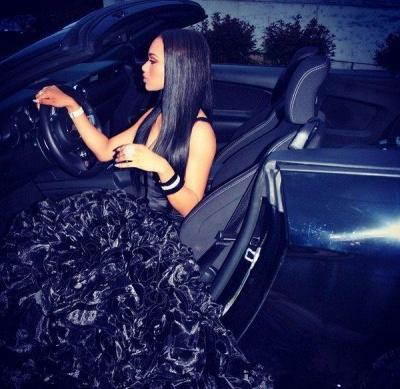 Alluring Mermaid Long Evening Dresses Ruffles Organza Prom Dress_2