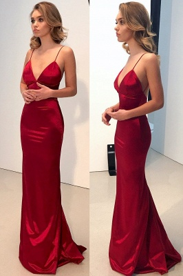 Sexy Spaghetti Straps Mermaid Prom Dresses | Shiny Open Back Evening Dresses_4